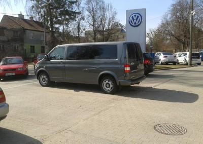 VW T5, folia BP15 - 85% przyciemnienia